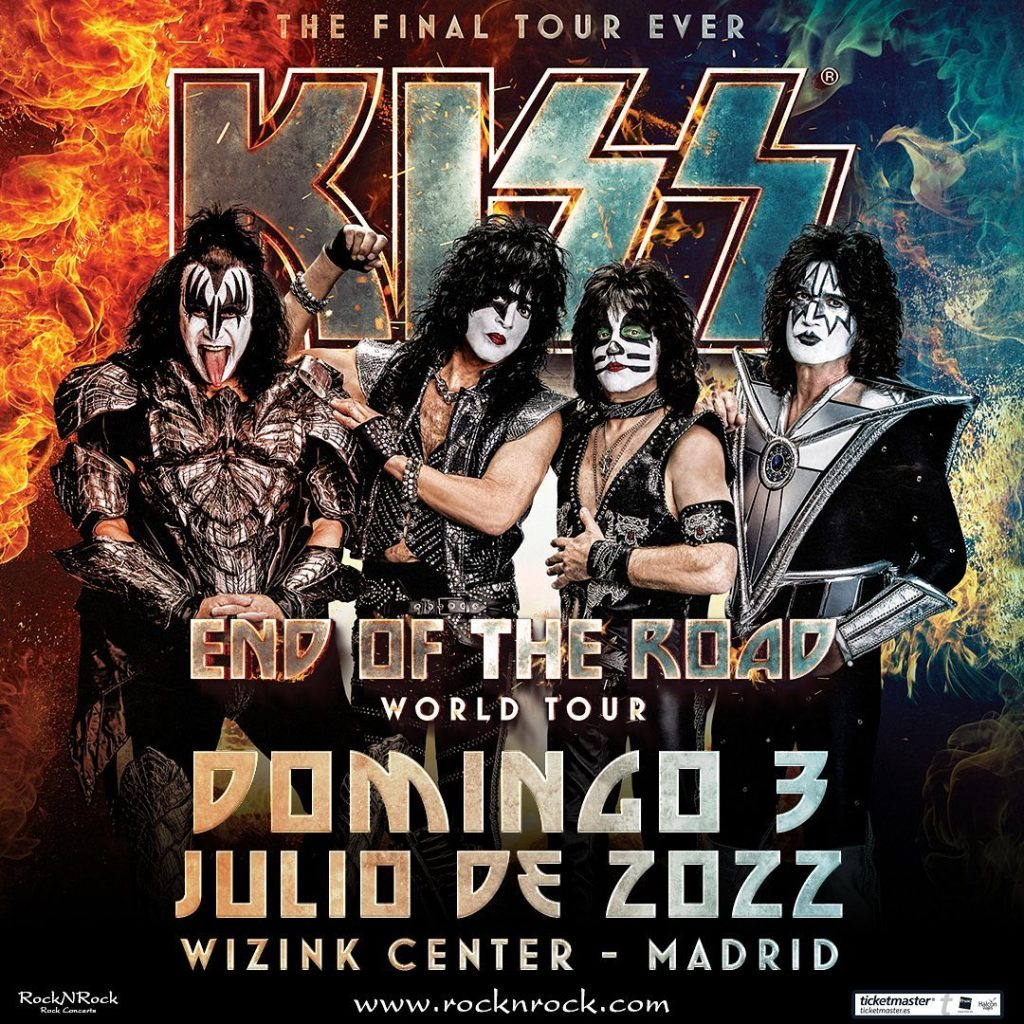 Kiss Gira «End Of The Road» 2022